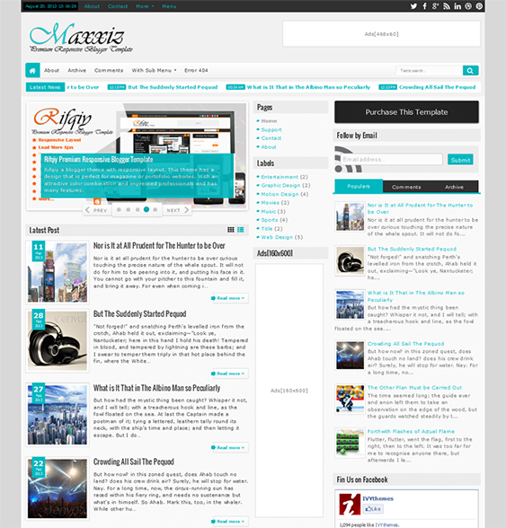 This news and magazine blogger template has 3 layout options a this news and magazine blogger template has 3 layout options a responsive design ajax pronofoot35fo Image collections