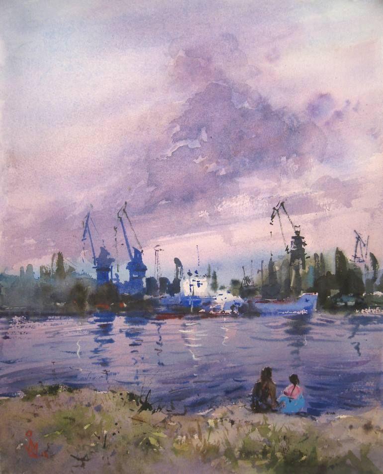 Original Landscape Painting By Maksym Kisilov Impressionism Art