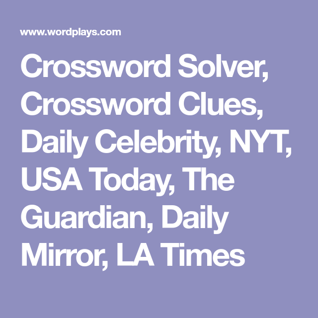 photo relating to Usatoday Crossword Printable identified as Crossword Solver, Crossword Clues, Every day Movie star, NYT, United states of america