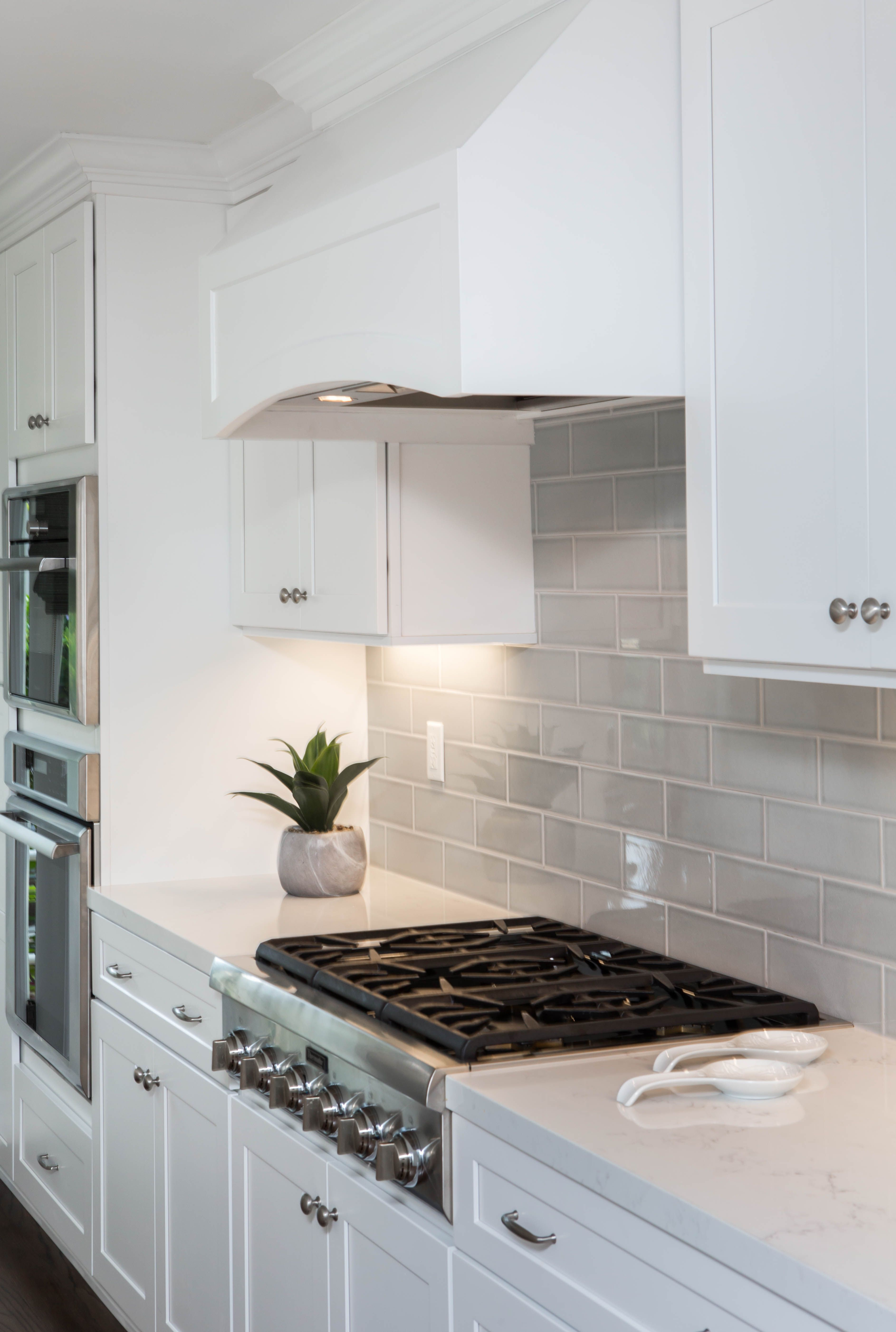 A Transitional Style Kitchen Remodel White Cabinets And Ocean
