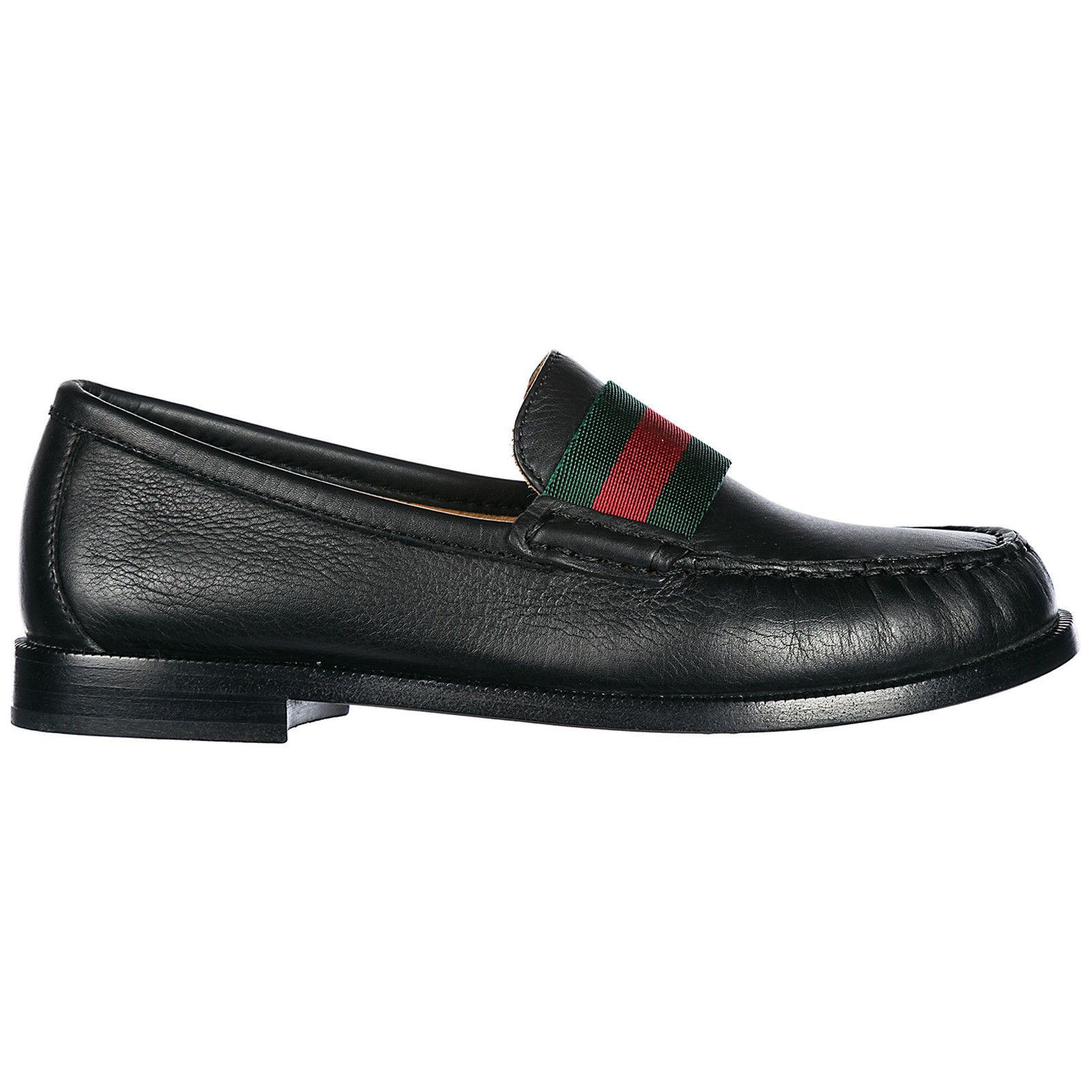 900a152fbdc GUCCI BOYS SHOES BABY CHILD LOAFERS MOCCASSINS LEATHER NEW BLACK C63 (eBay  Link)