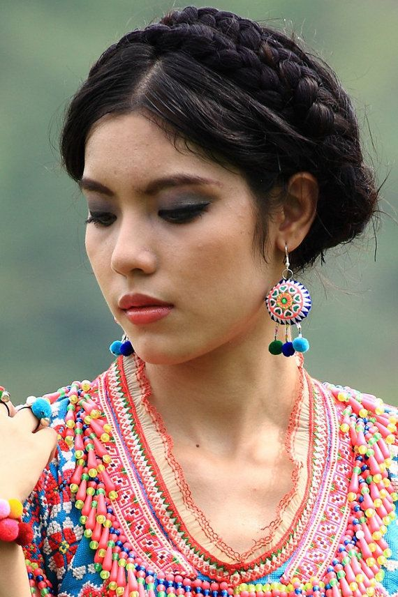 Hmong Sun Earring /Accessories /Ethnic /Patch by