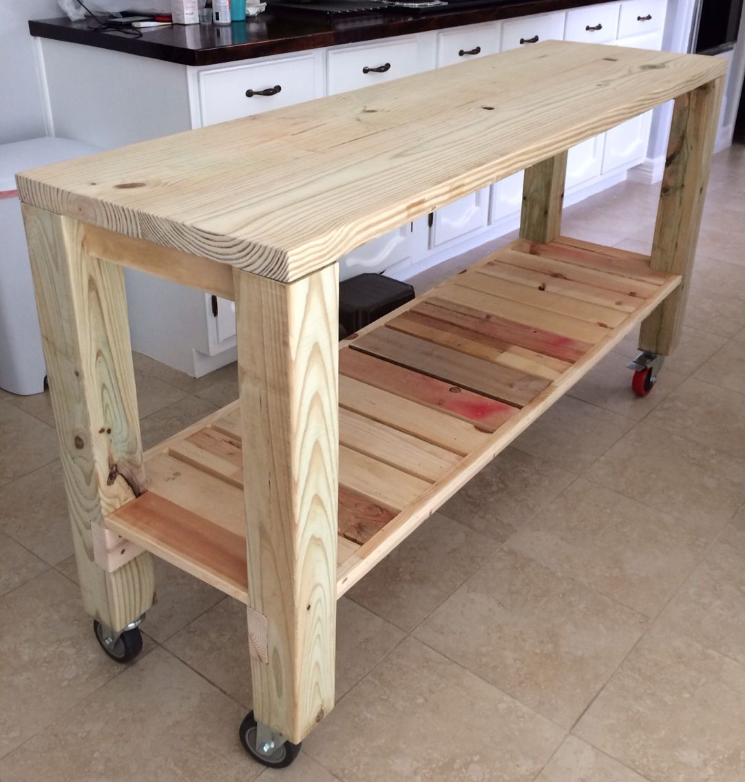 DIY Moveable Kitchen Island! | Diy furniture, Furniture ...