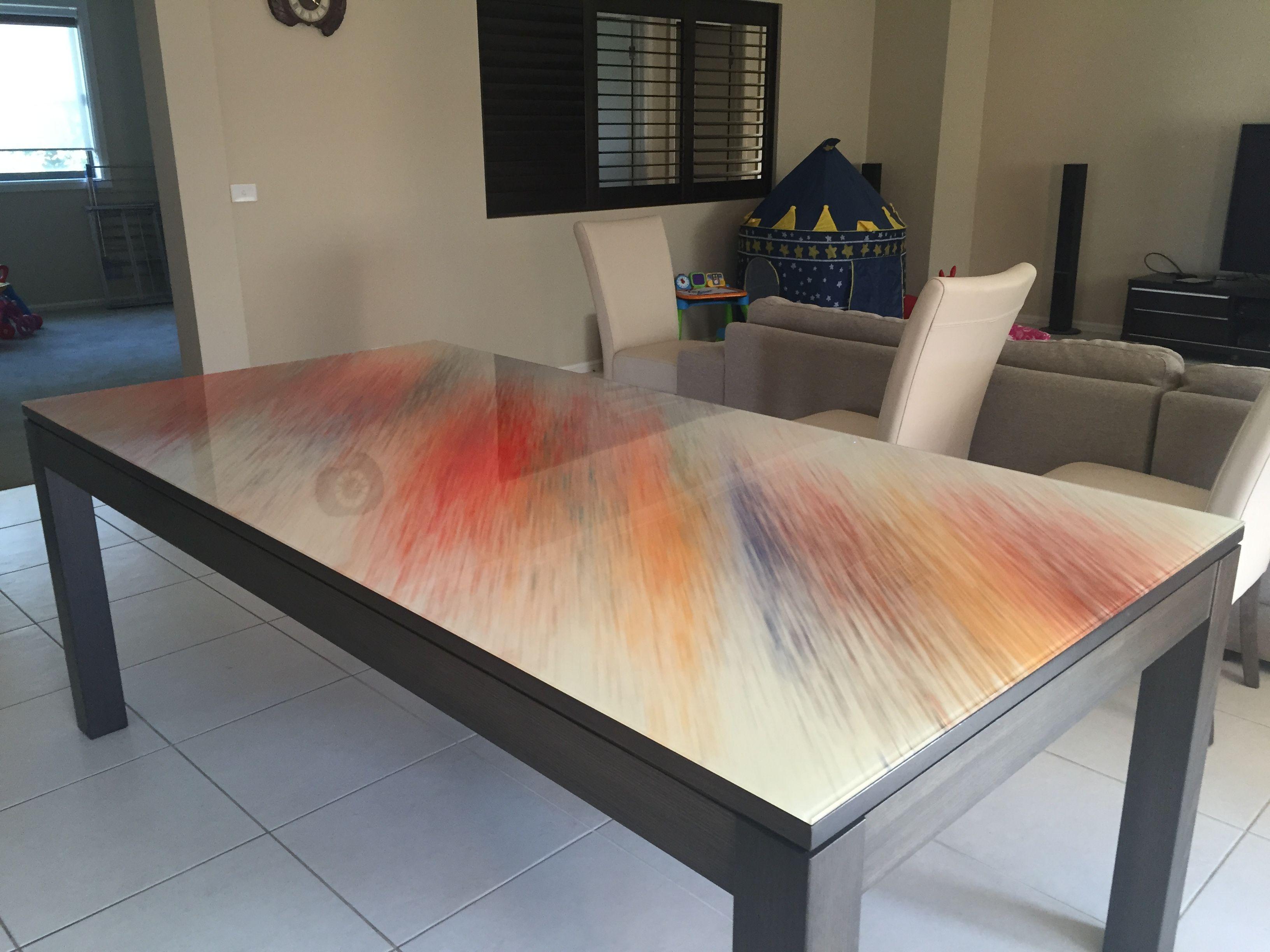 Printed Glass Table Top Dining Table Top Glass Top Table