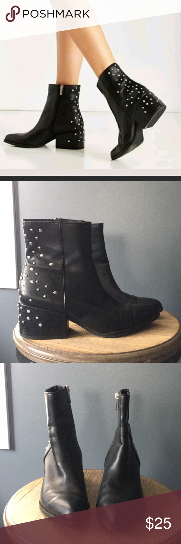 604f10e5699a69 Circus by sam edelman rae boot Studded boot good shape missing 3 studs as  shown but not that noticeable. Super trendy block heel Sam Edelman Shoes  Ankle ...