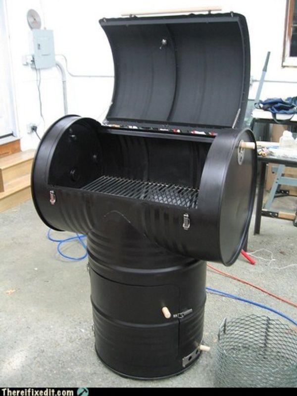 Pin By Marisabel Manda On Grills Drum Smoker 55 Gallon Drum Smoker Barrel Projects