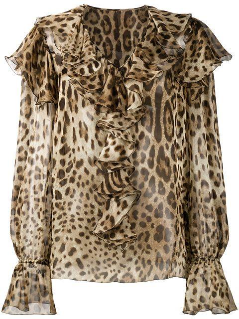 998eb38fb9c3c DOLCE   GABBANA Leopard Print Ruffle Blouse.  dolcegabbana  cloth  blouse