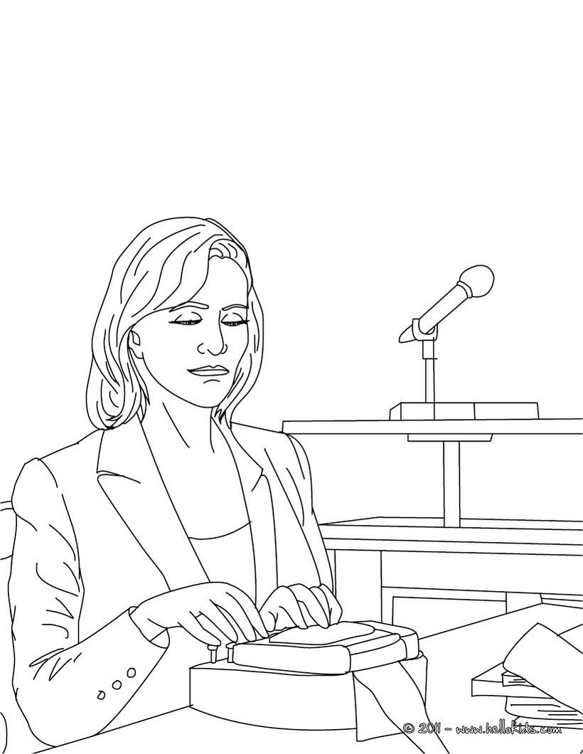 Court Clerk Job Coloring Page Amazing Way For Kids To Discover Job More Original Content On Helloki Coloring Pages Online Coloring Pages Free Online Coloring
