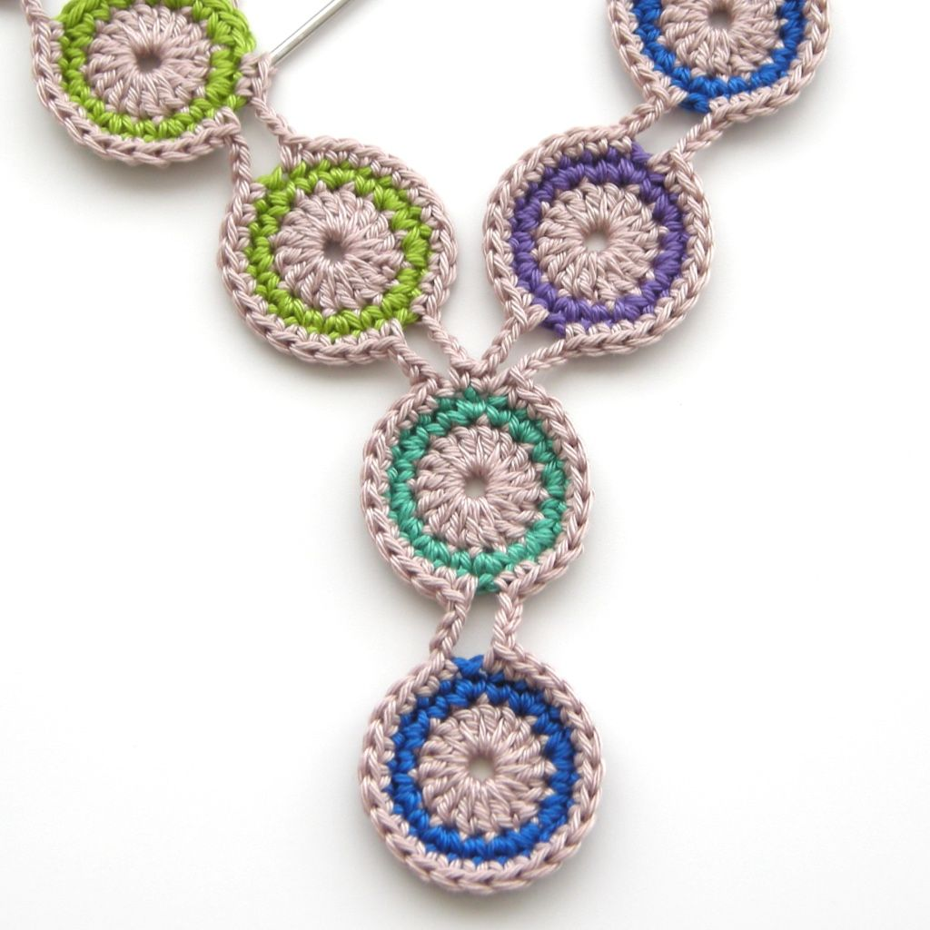 Free crochet pattern peacock necklace by TheCurioCraftsRoom ...