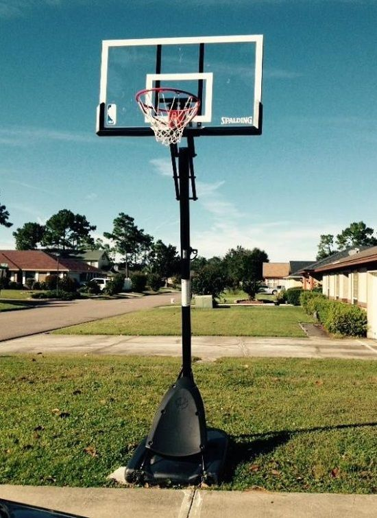 Spalding 54 Portable Basketball System Nba Adjustable Hoop Backboard Net Pole Spalding Basketball Hoop Basketball Systems Basketball Hoop
