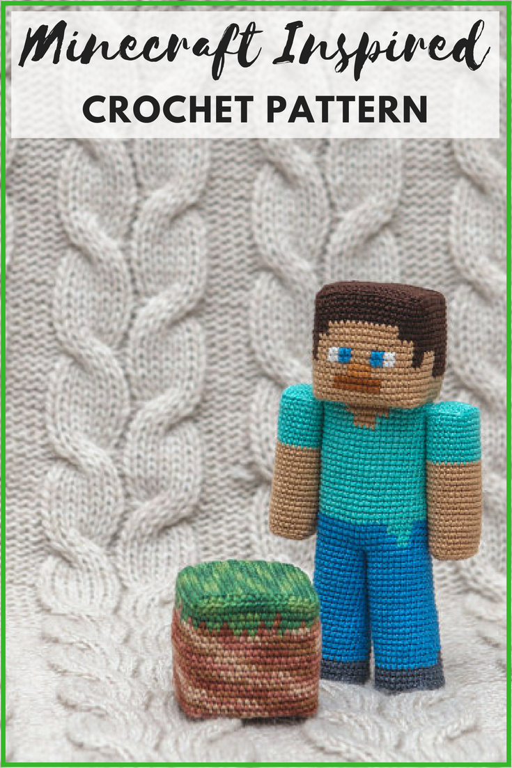 Minecraft crochet pattern! Getting started on it this weekend ...