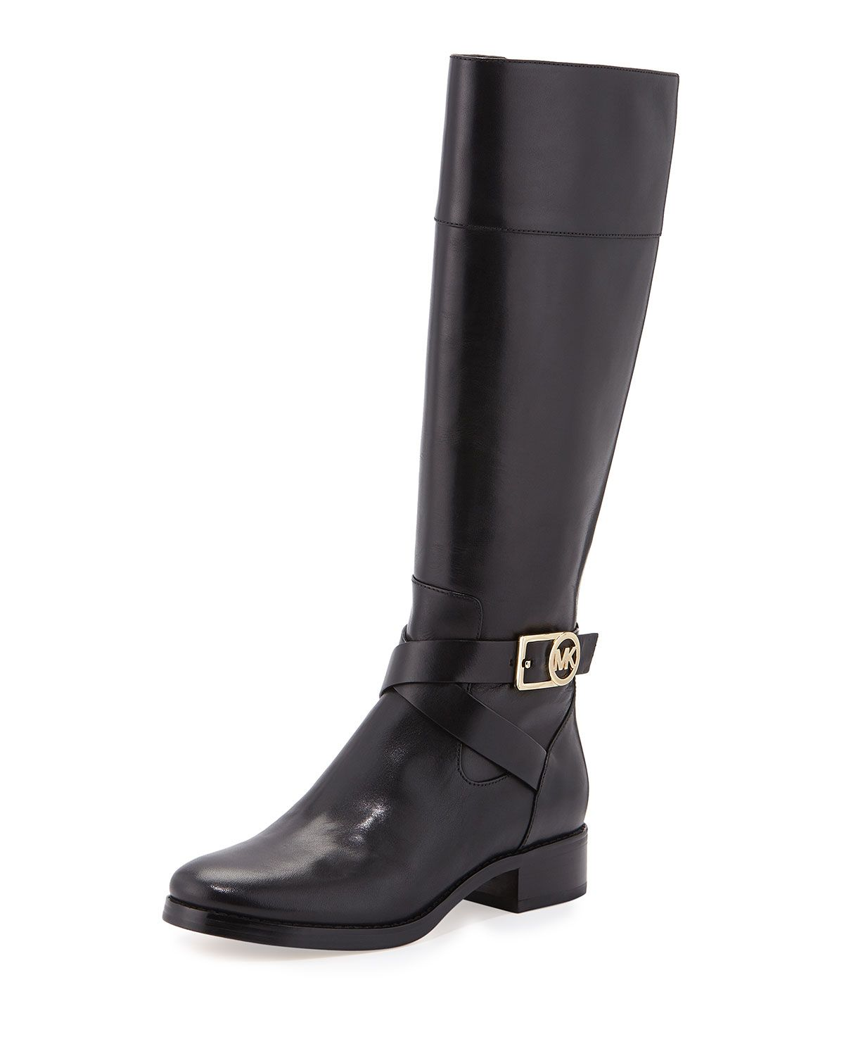 Michael Kors Bryce Leather Riding Boot