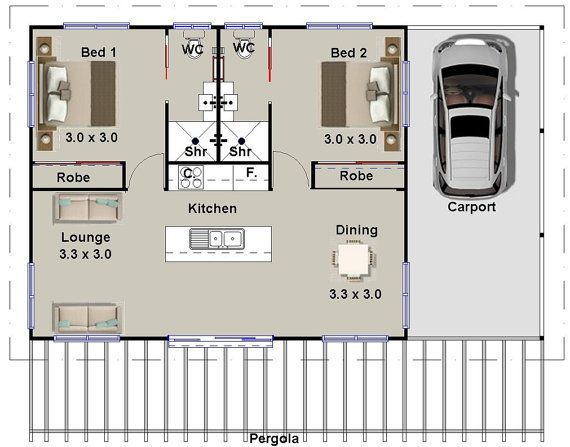 1 And 2 Bedroom House Plans Book Small Houses Granny Flats Etsy House Plans Australia 2 Bedroom House Plans Ranch Style House Plans