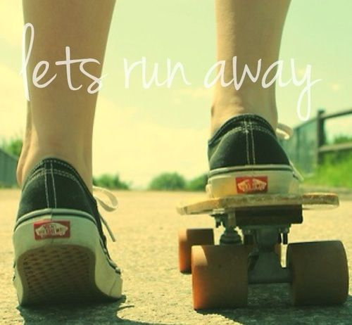 #skate #summer #vans #girls #run #longboard