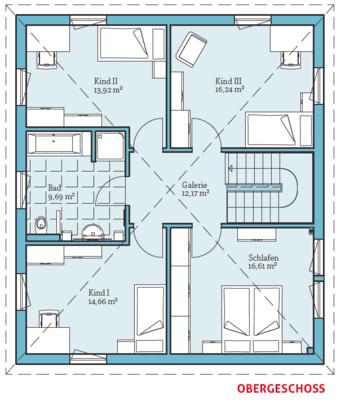 Grundriss-OG, Fertighaus Exklusive Villa 167 | Строительство ...