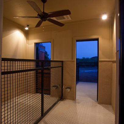 Indoor/outdoor Shower Pocket Door | 1,228 Dog Kennel Contemporary Home  Design Photos