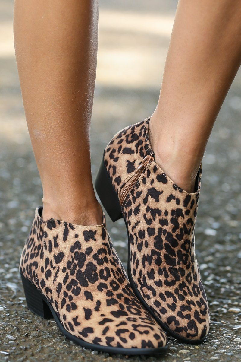 c9e335392050e Cool Leopard Ankle Boots - Booties -  34.00 – Red Dress Boutique