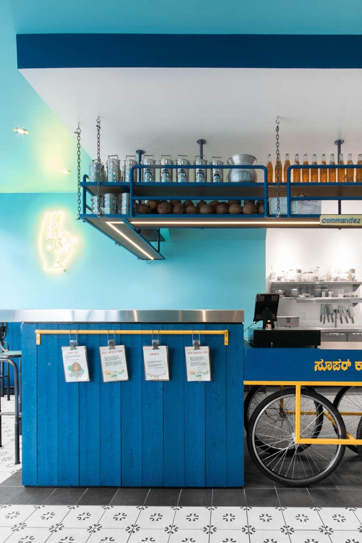 Small and vibrant restaurant Interior in Montreal #smallrestaurants