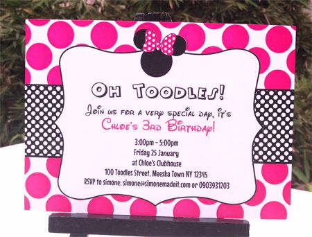 17 Best images about Savannah 1st Birthday party – Minnie Invitations for Birthdays