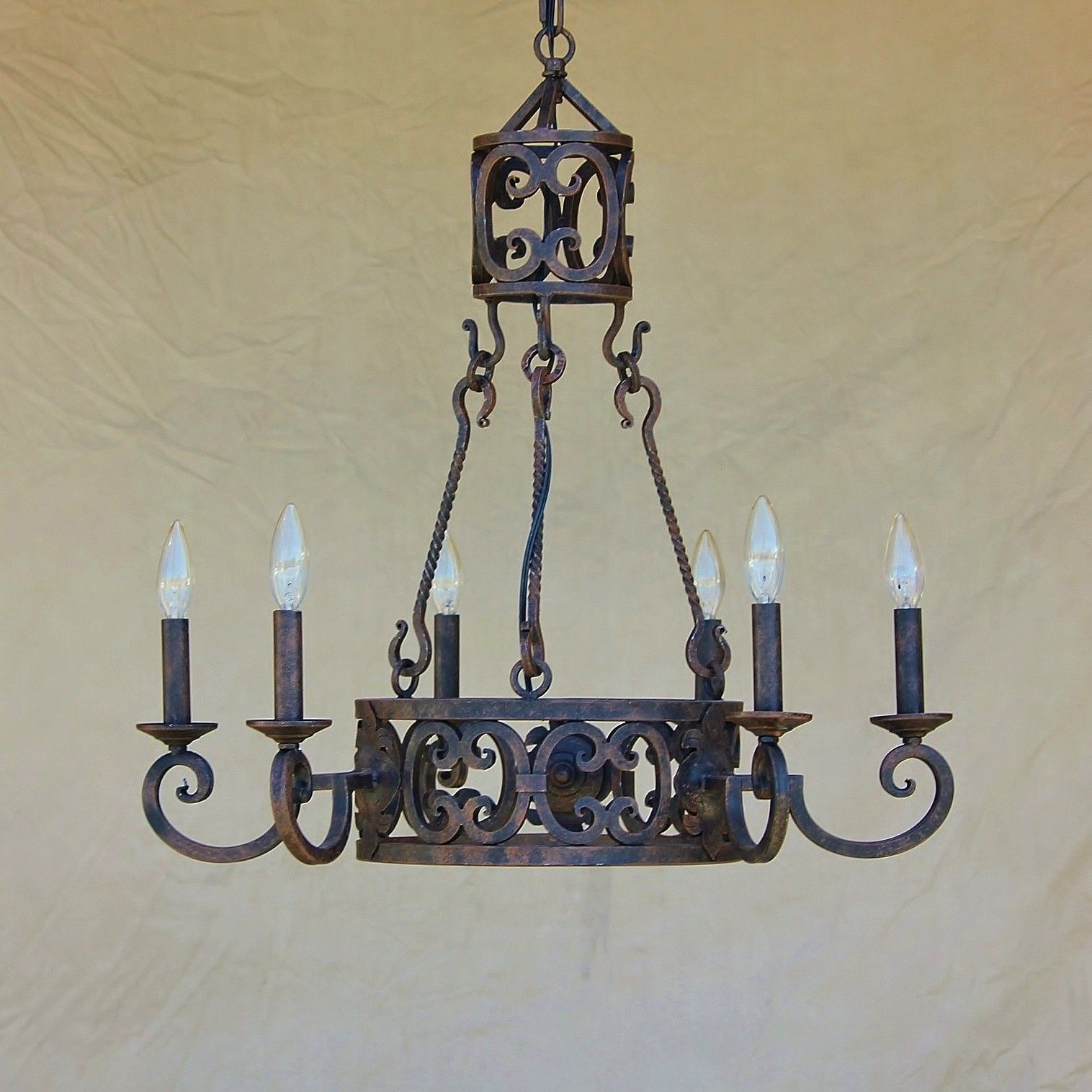 $700 26 in Tuscan style chandelier