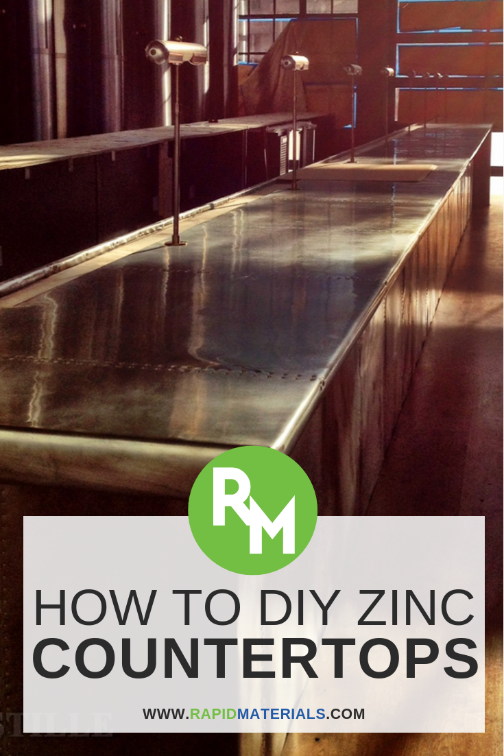 Homeowners That Truly Want To Spruce Up Their Kitchens With New Countertop Surfaces But Need To Budget Their Cool Diy Projects Zinc Countertops Diy Countertops