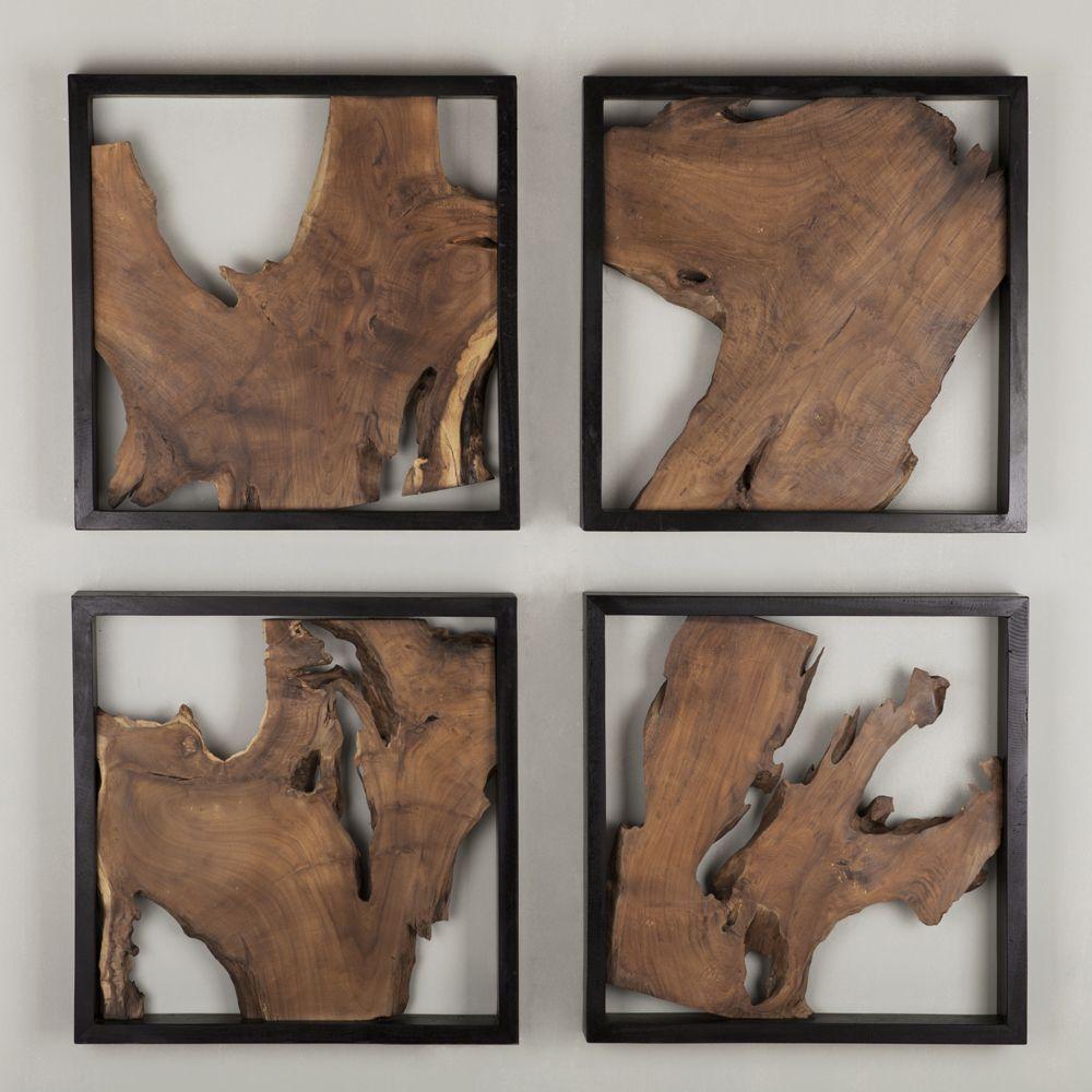 must living deko wandpanel trunk 50 x cm recyceltes teakholz teak holz gravieren kunst wanddeko coole wanddekoration wanddekorationen für wohnzimmer