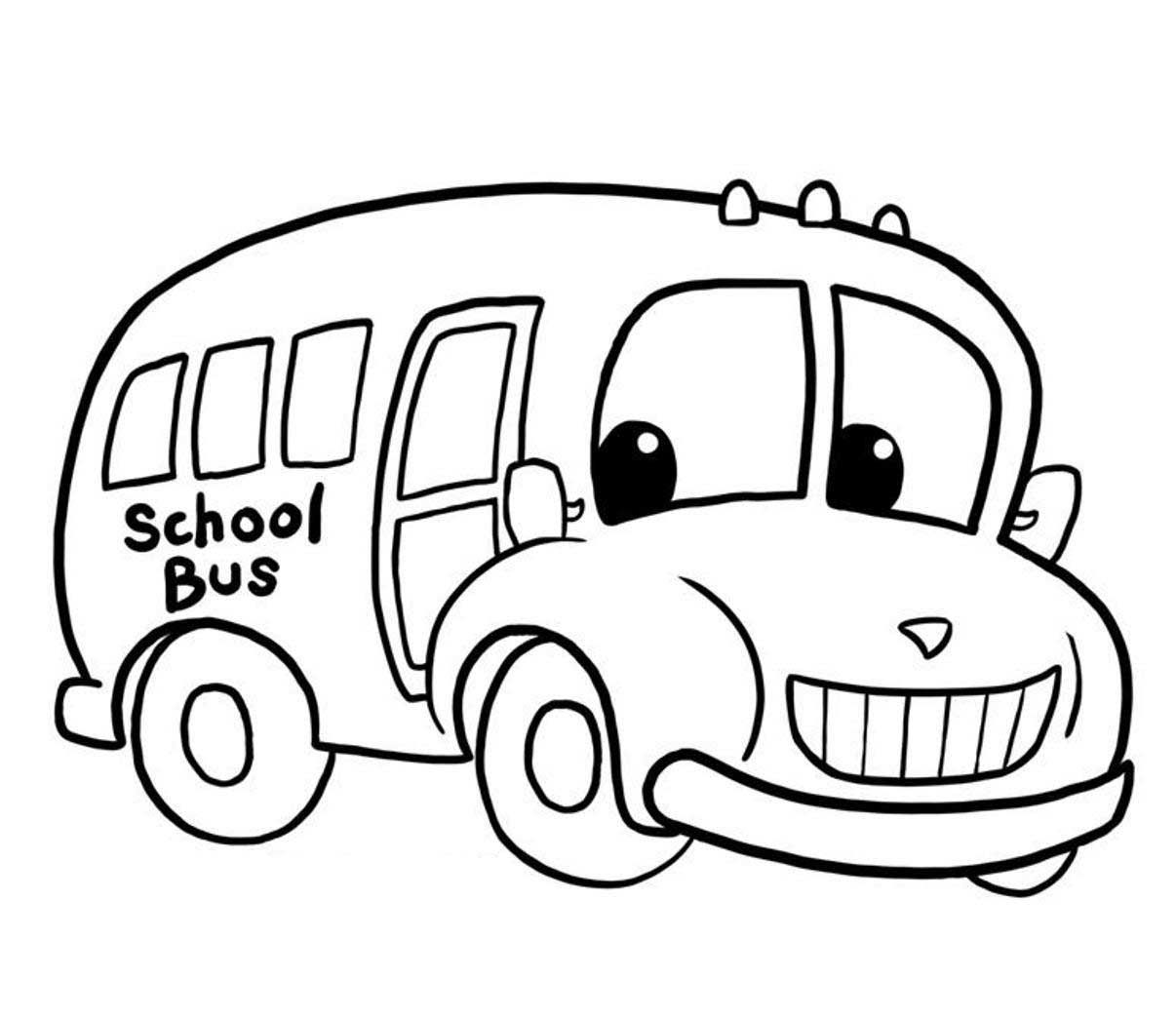Printable School Bus Coloring Page For Free