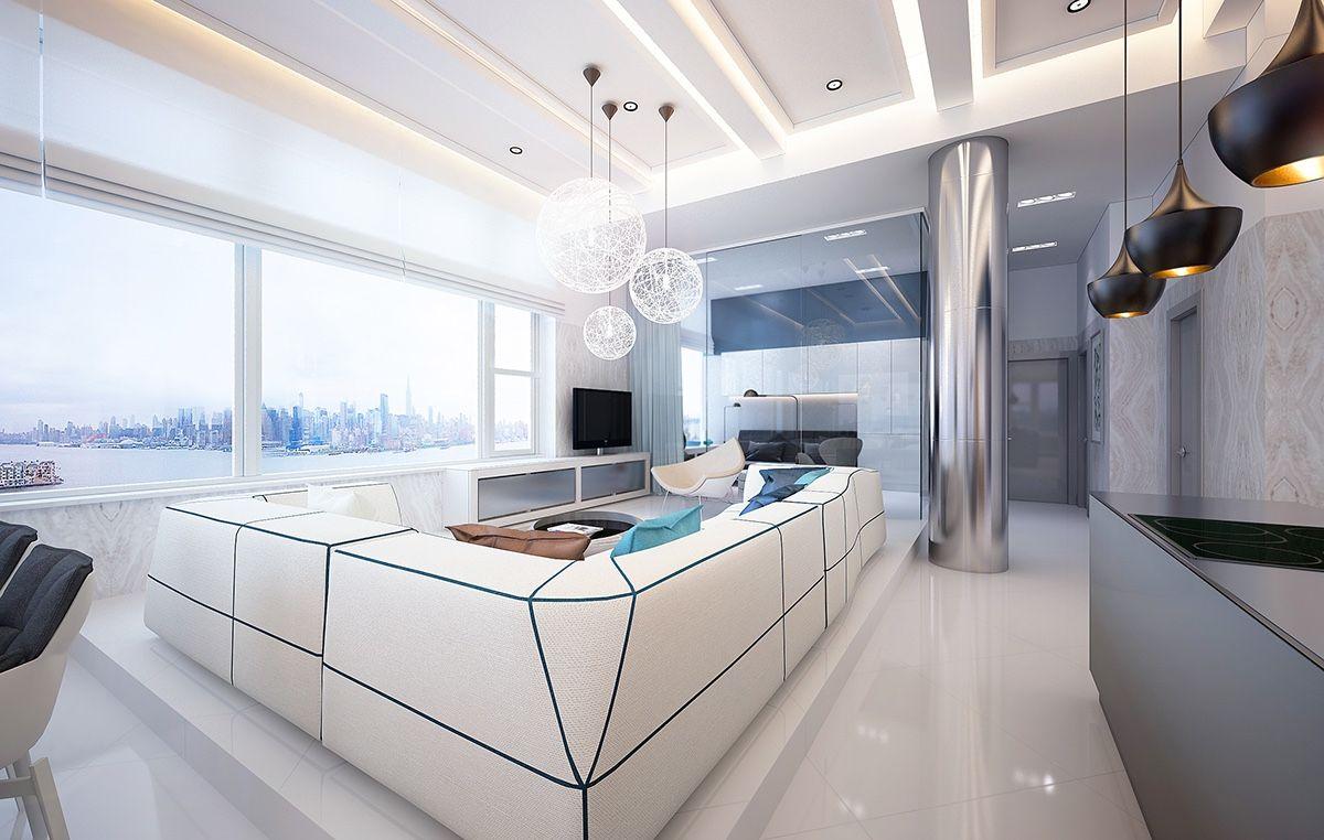 Good Awe Inspiring Hudson River Apartment