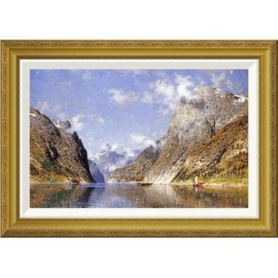 Global Gallery 'A Norwegian Fjord' by Adelsteen Normann Framed Painting Print Size: 2