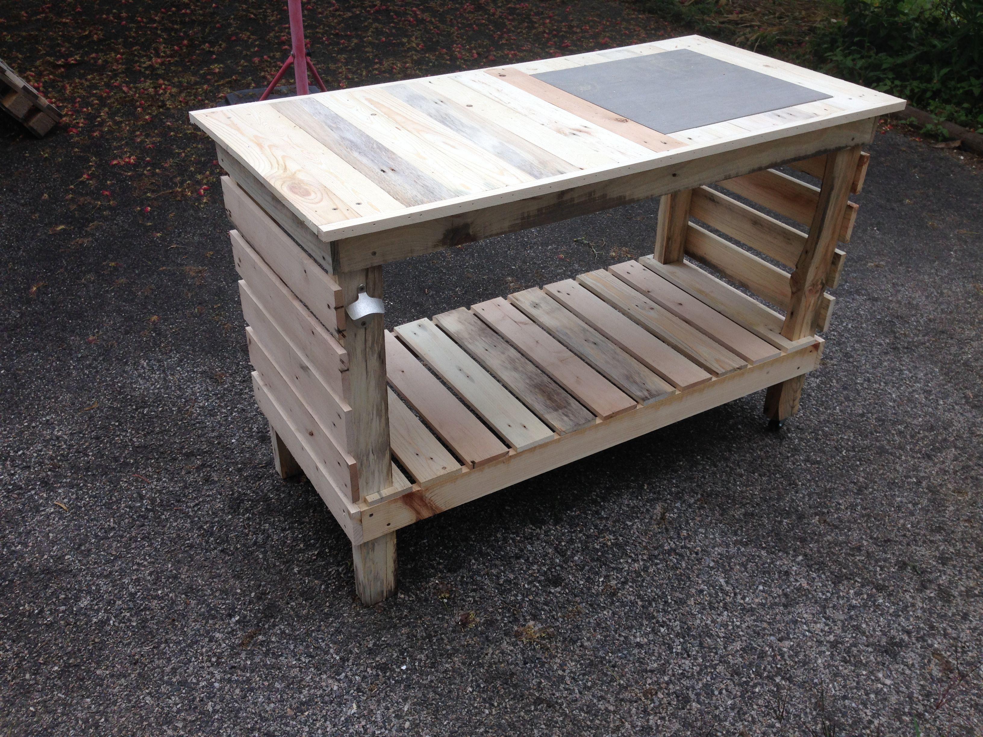 Desserte de barbecue en bois de palettes astuce fixer un Astuce pour decaper un meuble en bois