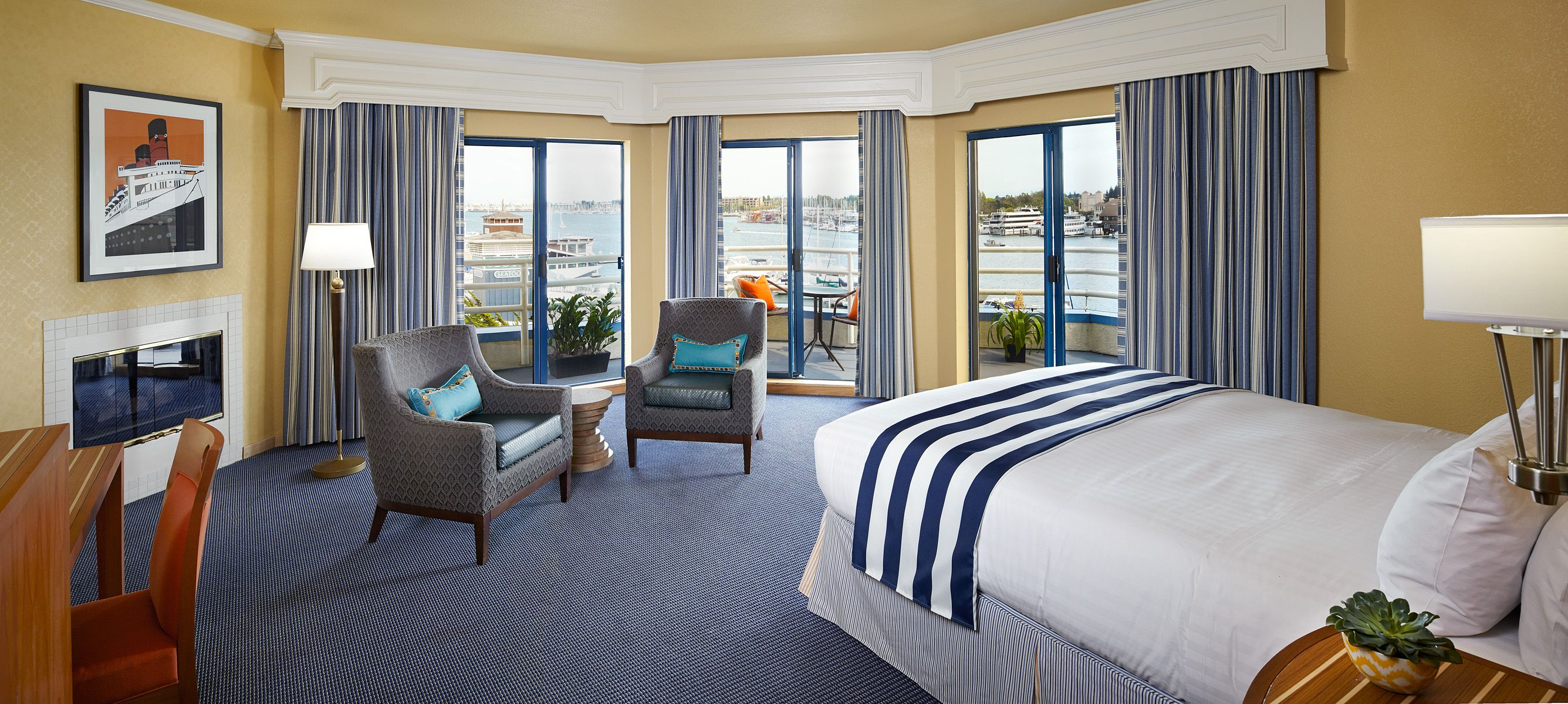 The Waterfront Bay View Suite at Waterfront Hotel features