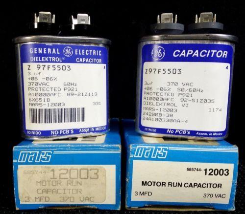 New In Box OEM GE Dielektrol Motor Run Capacitor 3uF 370VAC