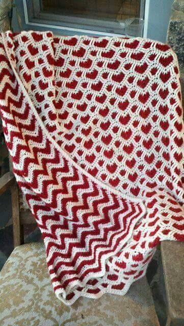Красивый двусторонний плед | Пледы | Pinterest | Crochet, Afghans ...