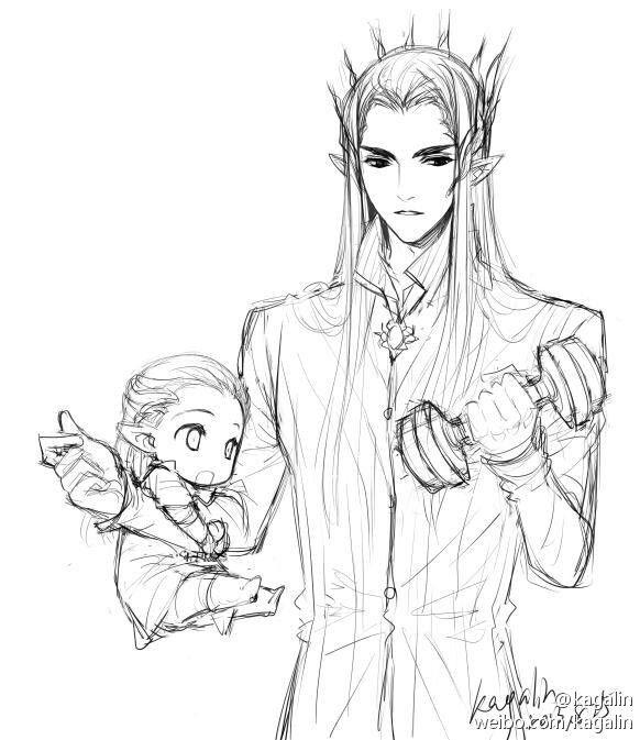 Thranduil and baby Legolas | Legolas And Thranduil | Pinterest | El ...