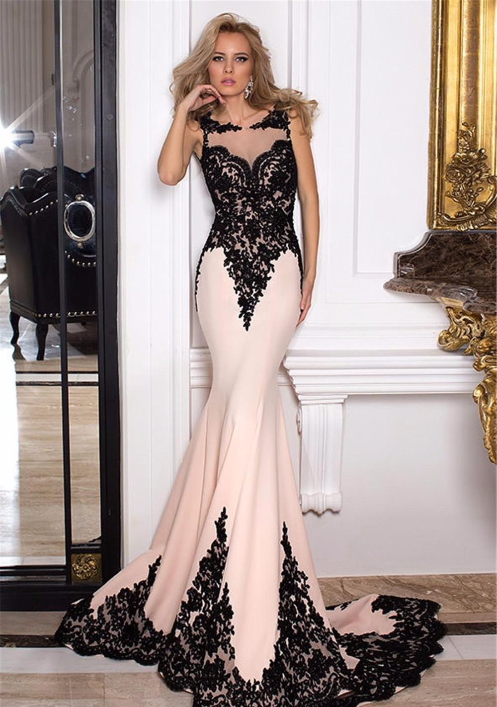 Click to buy ucuc new arrival elegant see through mermaid prom dress