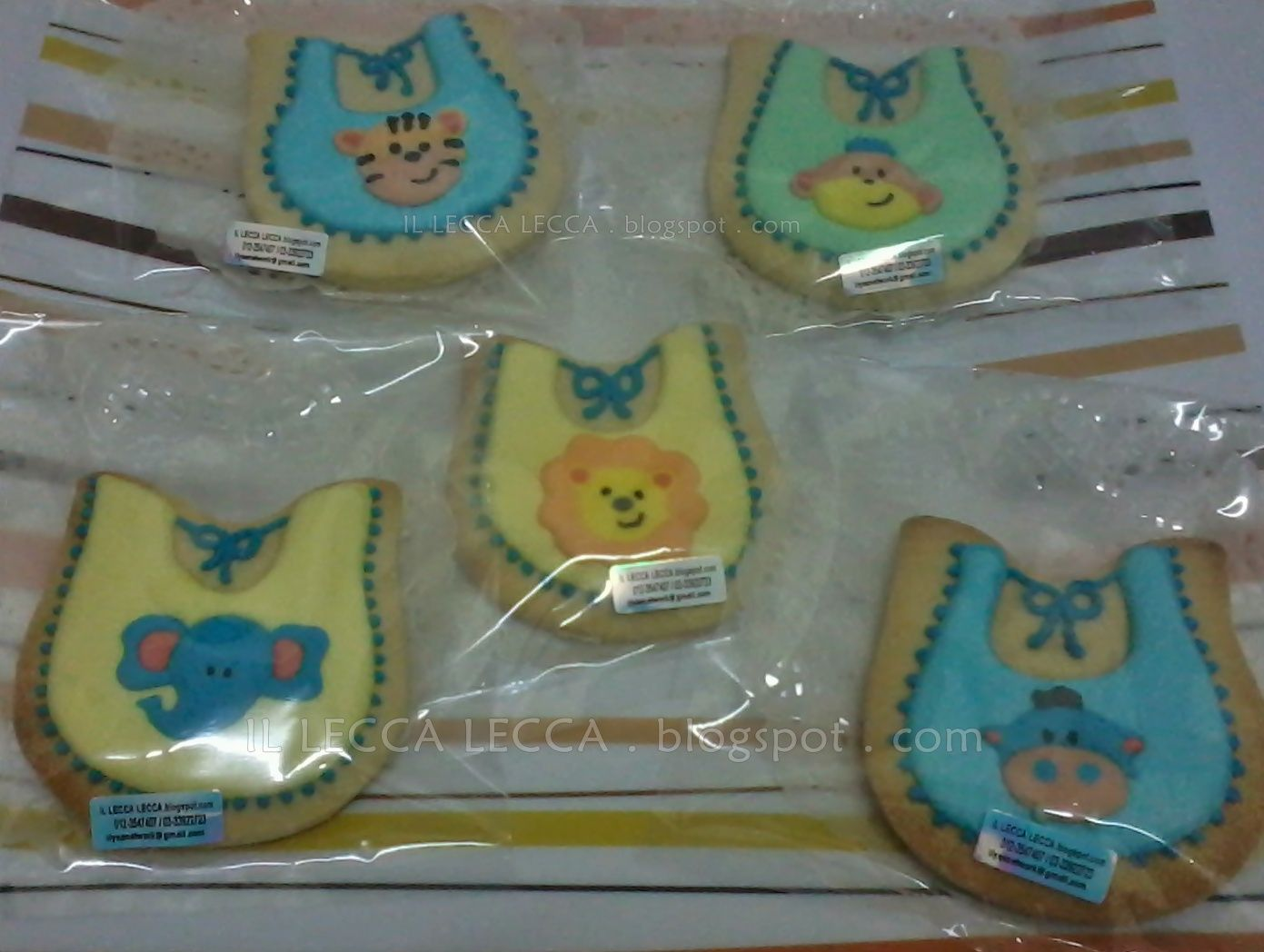fancy cookies for aqiqah - bip with animal template