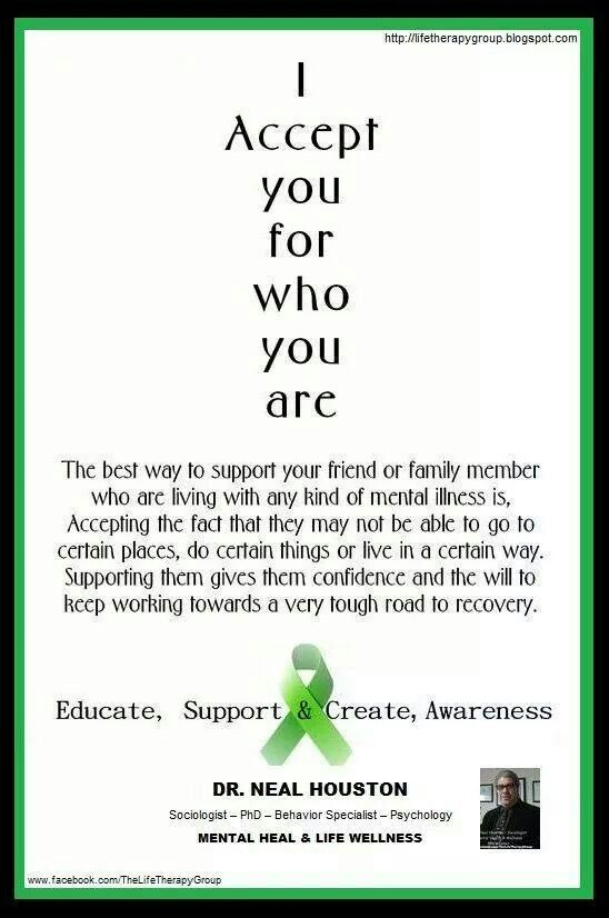 Mental Illness Accept The Restrictions End The Stigma
