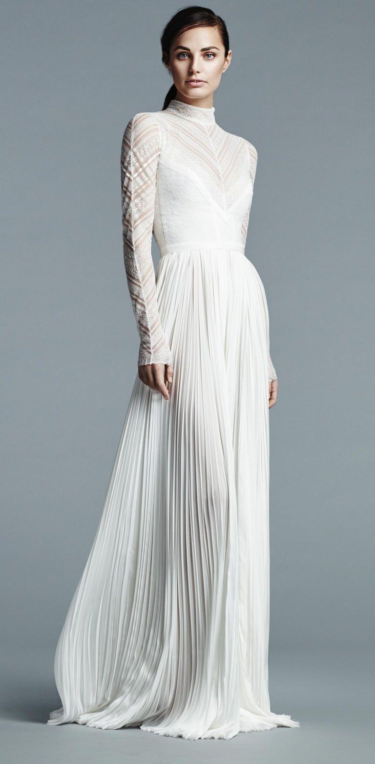 J. Mendel Shows Modern Floral Wedding Dresses for Spring 2017 ...