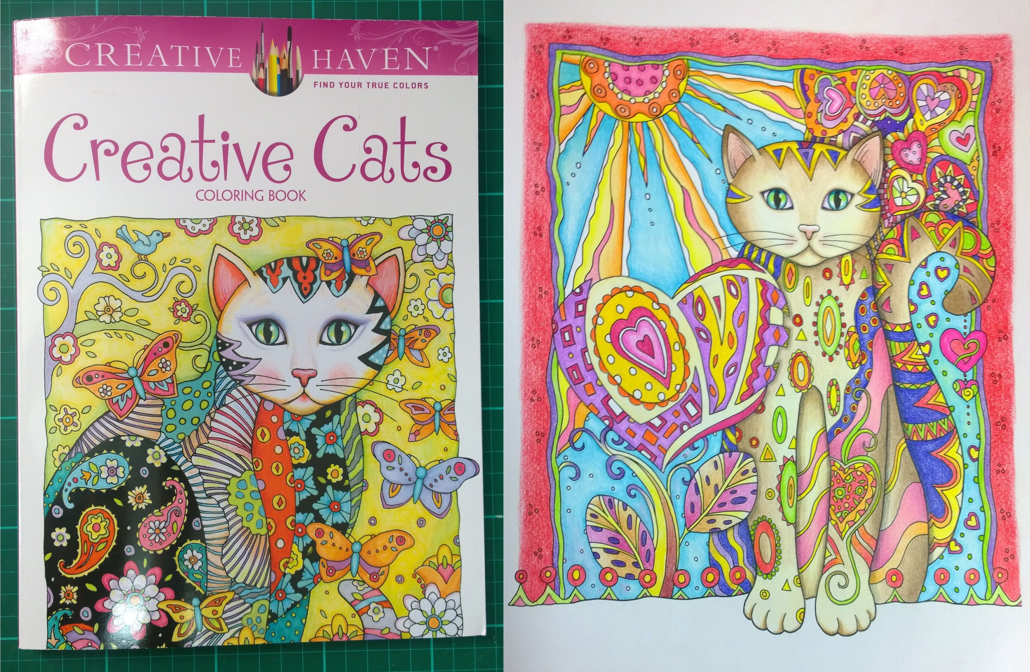 Colouring Book Review Creative Cats walk through with tips and