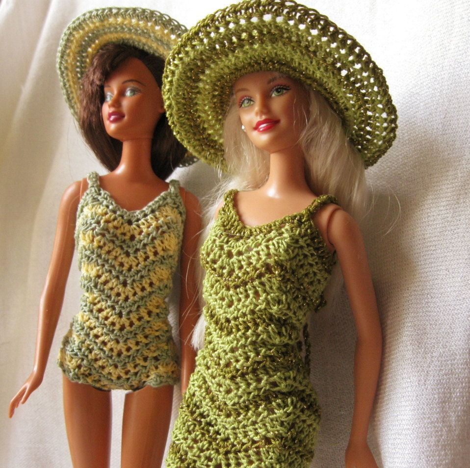 Barbie doll crochet pattern chevron dress and swimsuit with wide barbie doll crochet pattern chevron dress and swimsuit with wide brimmed hat bankloansurffo Choice Image