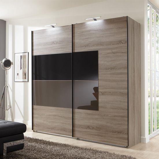 Cheap Bedroom Design Ideas Sliding Door Wardrobes: Cairo Sliding Wardrobe In Montana Oak And Black Mocha
