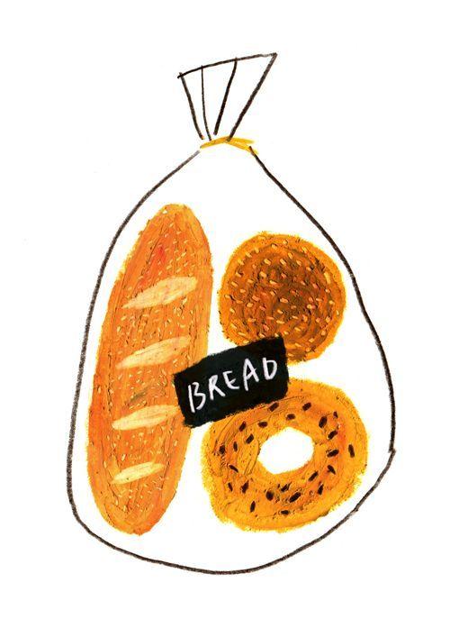 Bread On Behance Illustration Bread Art Food Illustrations