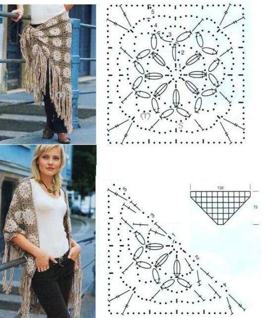 Chal Multifuncion de Crochet - Patrones Crochet | Haken | Pinterest ...