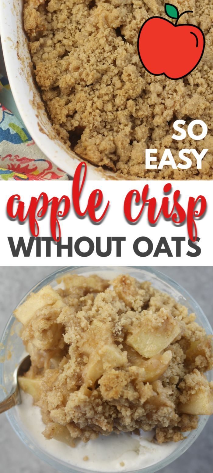 Apple Crisp Without Oats #applecrisprecipe