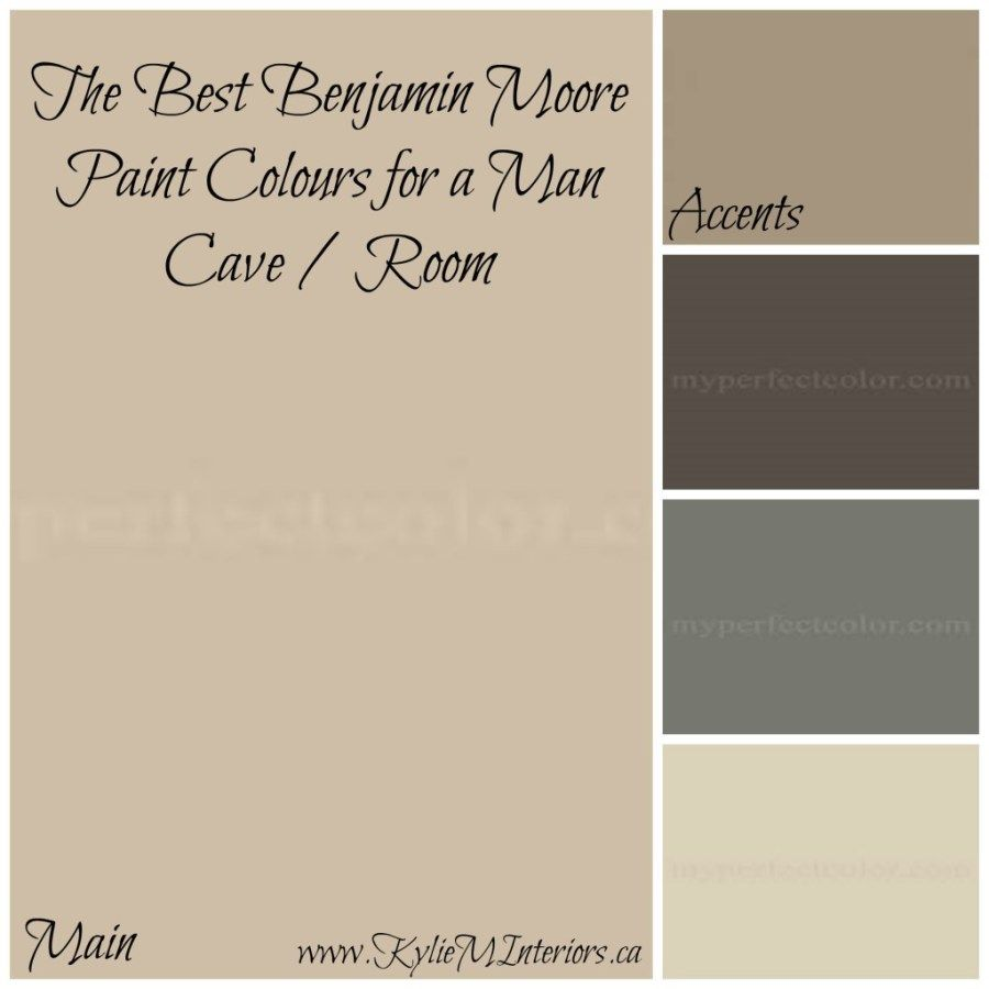 Paint Colours For A Neutral And Rich Toned Man Cave Or Man Room Using Benjamin Moore Bleeker Beige Alexandria Beig Man Cave Paintings Man Room Man Cave Colors