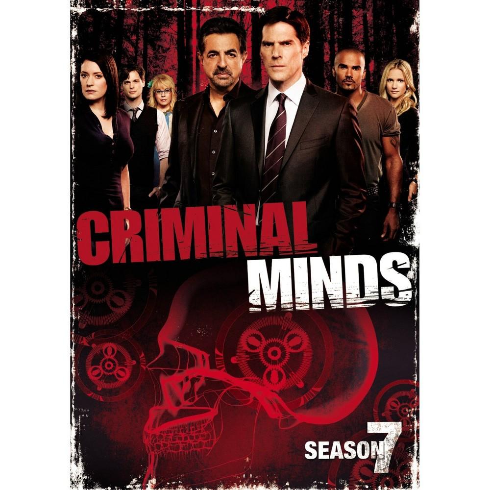 Criminal Minds The Seventh Season 6 Discs Dvd Video