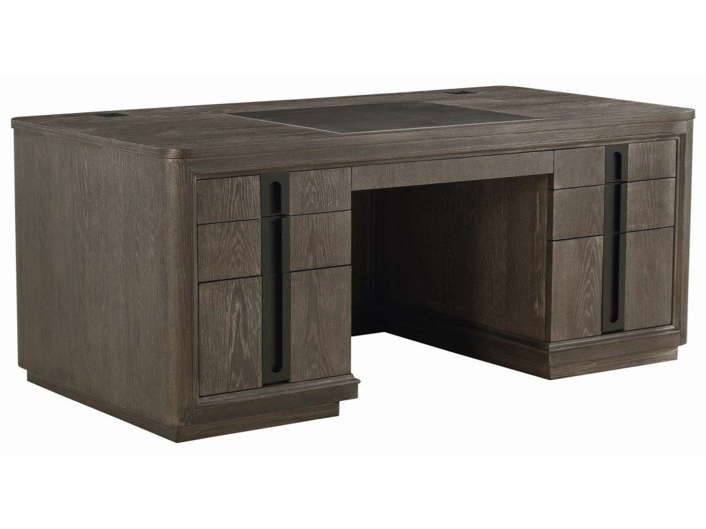Geode Tourmaline Executive Desk With Inset Leather Panel By A R T