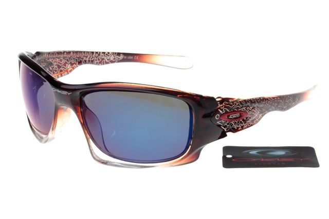 Oakley Crankcase Sunglasses Deep Brown Pattern Frame Colorful Lens 0162