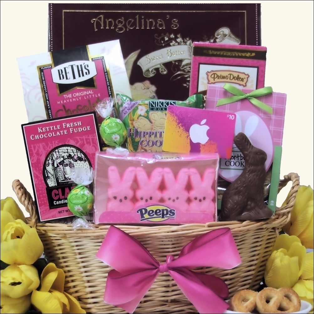 Easter gift basket for college student delightful easter easter gift basket for college student delightful negle Images