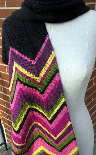 Photo of Missoni Inspired Scarf pattern by Espace Tricot